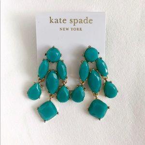 Kate Spade Turquoise & Gold Drop Earrings